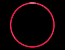 "8"" Red Glow Light Bracelets"