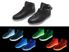 Black Hi-Top LED Sneaker - Size 6