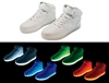 White Hi-Top LED Sneaker - Size 8