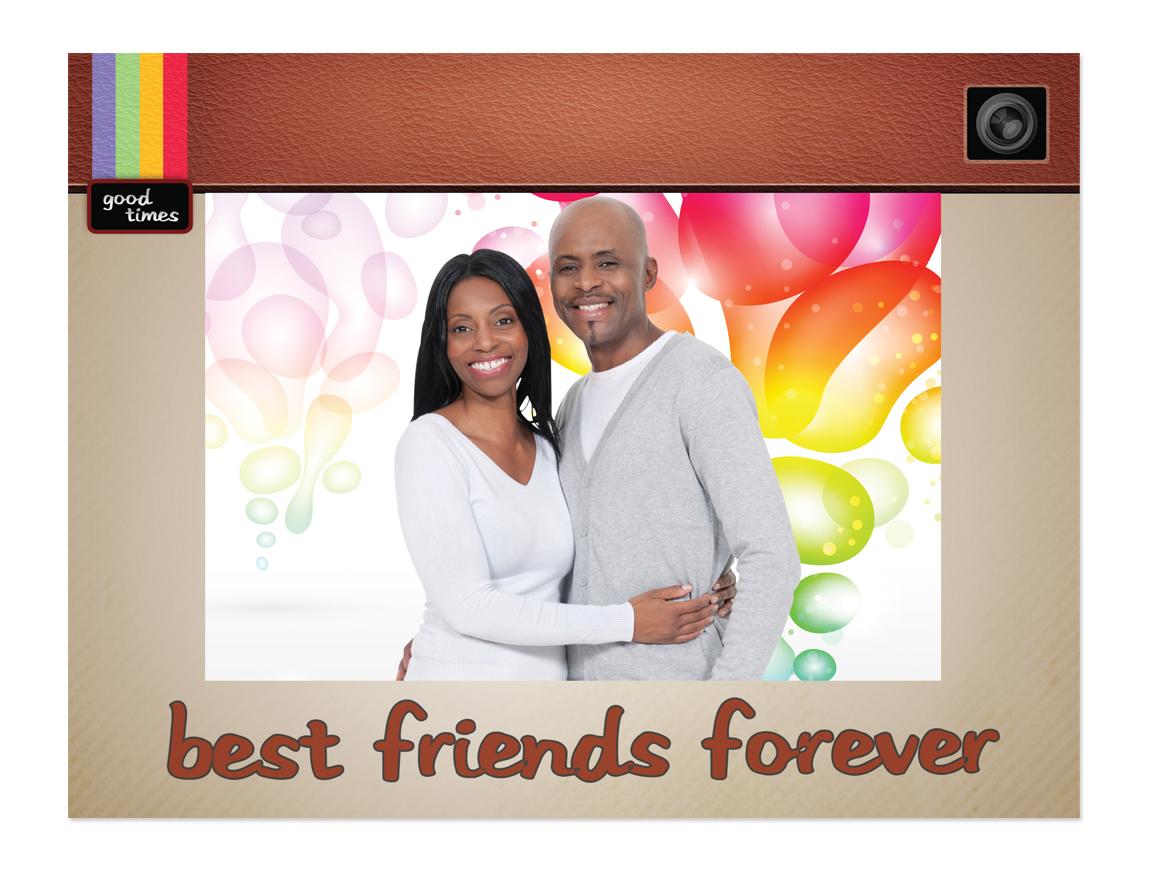 best friends forever 4 x 6 cardboard photo frame