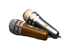 "Inflatable 10"" Silver & Gold Microphone"
