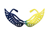 WING GLASSES - BLUE/YELLOW