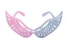 WING GLASSES - PINK/CLEAR