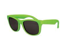 Kids Classic Sunglasses - Solid Neon Green