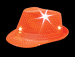 Orange Sequin LED Fedora