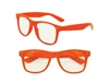 Clear View Orange Iconic Sunglasses - UV400