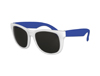 Classic Style Sunglasses - White with Blue Arms