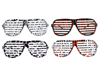 Animal Print Slotted Glasses