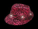 Light-Up Hot Pink Animal Print Fedora