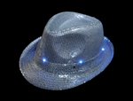 LED Silver Sequin Fedora