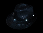 LED Black Sequin Fedora