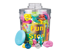 Value Action Toy Canister