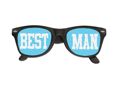 Best Man Printed Lens Glasses