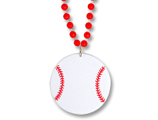 Baseball Medallion with Beads