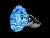Gigantic Blue LED Bling Ring