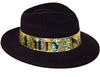 B88656-25 - New Year'S Black And Gold Fedora