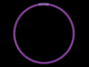 "CG7L - 8"" Purple Glow Light Bracelets"