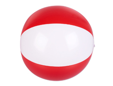 "16"" Red/White Beach Ball"