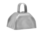 "S11081 - 3"" Silver Cowbell"