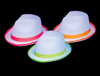 S18005 - White Fedoras With Neon Trim