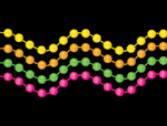 S18013 - Black Light Neon Color Necklaces