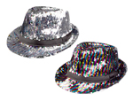 Reversable Sequin Fedora