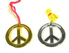 Metallic Peace Necklaces