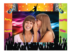 "S23201 - Dance Party 4"" X 6"" Cardboard Photo Frame"