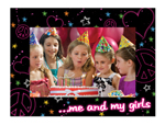 "S23204 - Me & My Girls 4"" X 6"" Cardboard Photo Frame"