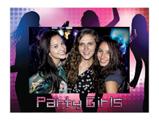 "S23205 - Party Girl 4"" X 6"" Cardboard Photo Frame"