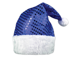 S2390 - Blue Sequin Holiday Hat