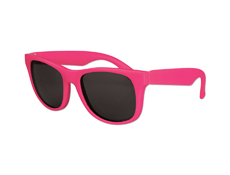 Kids Classic Sunglasses - Solid Neon Pink