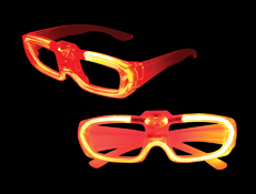 S46077 - Sound Activated El Glasses - Red