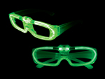 S46078 - Sound Activated El Glasses - Green