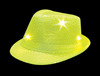 S46093 - Yellow Sequin LED Fedora