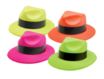 S4641 - Neon Gangster Hats Assorted