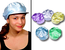 S5039 - Funky Satin Newsboy Caps Assorted