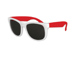 S53020 - Classic Style Sunglasses - White With Red Arms