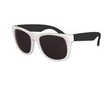 White Frame Classic Sunglasses with Black Arms