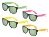 S53035 - Neon Classic Sunglasses With Mirrored Lenses