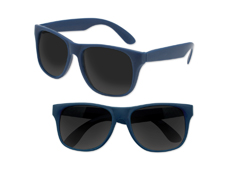 S53066 - Solid Classic Sunglasses - Navy Blue