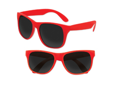 S53067 - Solid Classic Sunglasses - Red