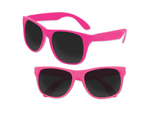 S53068 - Solid Classic Sunglasses - Neon Pink