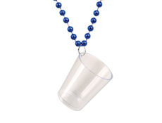 S55003 - Shot Glass Bead Necklace - Blue