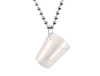Shot Glass Bead Necklace - Silver