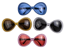 S5841 - Glamour Glitter Glasses Assorted
