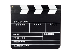 "12 "" Hollywood Clapboard"