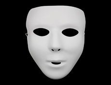 S59116 - White Face Mask