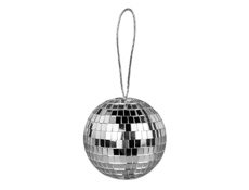 "S6114 - 4"" Disco Ball With String"