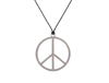 S6477 - Peace Sign Necklace